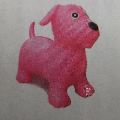 Happy Hopperz - Pink Dog - Childrens Ride-On - Inflatable Bouncer - Space Hopper