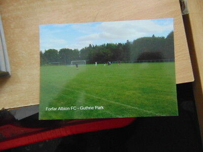 Postcard Junior Football Ground - Forfar Albion Guthrie Park