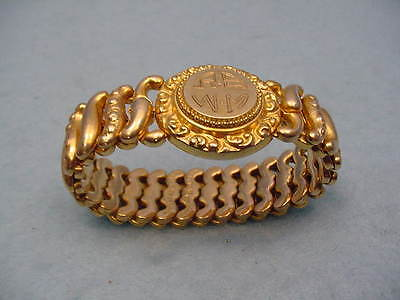 Vintage American Queen Victorian Gold Filled Round Stretch Bracelet