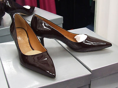 Cecille BNIB UK 3.5 Exquisite Kitten Heel Patent Maroon Leather Court Shoes EU36
