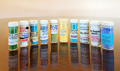 10 Off Mixed Colour Ceramic And Porcelain Paints - 50 To 100% Full