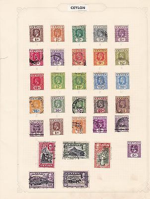 Ceylon   Mounted Mint And  Used  Stamps On Album Pages  Ref R1238