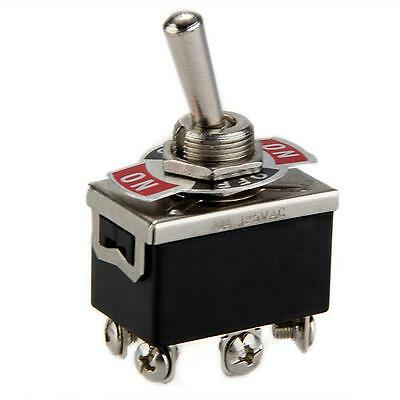AC 125V 15A / 10A ON-OFF-ON 3 Position 6-Terminals DPDT Toggle Switch Momentary