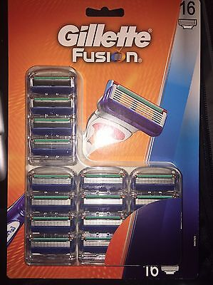 Gillette Fusion Manual Razor Blade Pack of 16 Men Shaving Grooming Blades New