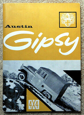 Rare BMC Aug 1960 Austin Gipsy 4x4 Sales Promotion Booklet - Confidential - 1913