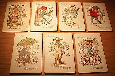 Rare Victorian Old Maid Card Game - FREE P&P