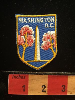 PATCH WASHINGTON DC DISTRICT OF COLUMBIA Washington Monument Cherry Blossoms 675