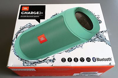 *NEW* JBL Charge2+ Rechargeable Splashproof Bluetooth Speaker + Power bank Teal