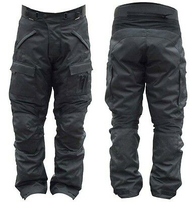 Mens Motorcycle Motorbike Trouser Pants Textile Cordura Ce Armored Size 34