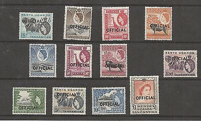 Queen Elizabeth Ii 1954-59 Definitive Part Set 12/14 With Official O/p