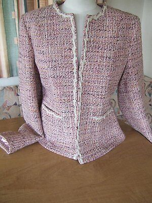 Ladies Two Piece Wool (28%) Skirt Suit Size 14