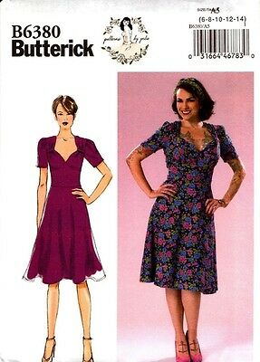 Butterick Sewing Pattern B6380 6380 patterns by gertie Misses Dress 6-14 14-22