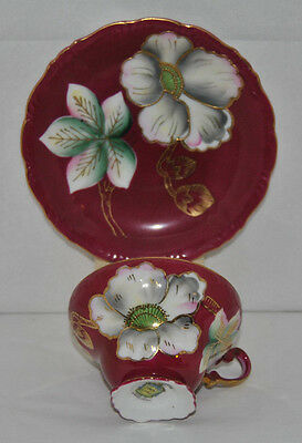 Vintage Rare Trimont China, Made in Occupied Japan Bone China Tea Cup and Saucer