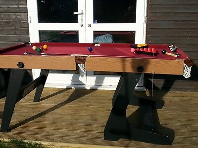 Hypro 6ft Folding Snooker and Pool Table