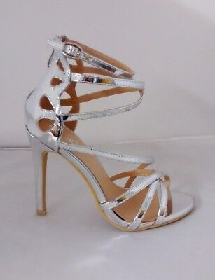 Womens High Heel Ankle Strap Strappy Open Toe Ladies Sandals Shoes