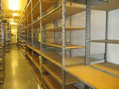 "Lozier-S Series Shelving Backroom Storage Shelf 12"" Deep - priced per section"