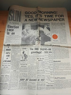 The Sun Newspaper - first ever issue Tuesday Sept 15 1964