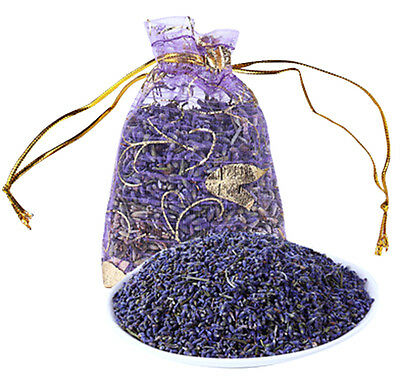 Lot of 6 Lavender Sachets made with Purple Organza Bags