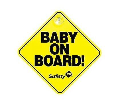 Baby on Board Car Sign with Suction Cup Yellow Safety 1st