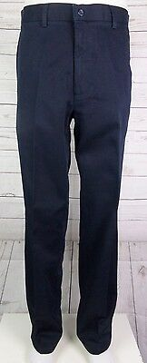 Vtg Flat Front Blue Tapered Leg Cotton CHino Dockers Trousers  W32 L33 DL69