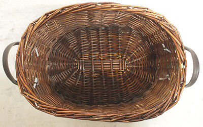 Small Vintage Wicker Oval Basket Storage Furniture