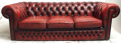 Vintage Red Chesterfield Sofa  Retro  Living Room Furniture