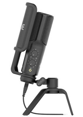 RODE NT-USB - Condenser Microphone USB Studio/Podcasting Mic + Stand, Pop Shield