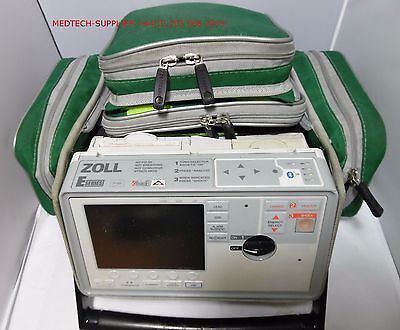 Zoll E Series AED. Bluetooth,ECG, SPO2, NIBP,CO2, LEADS As listed