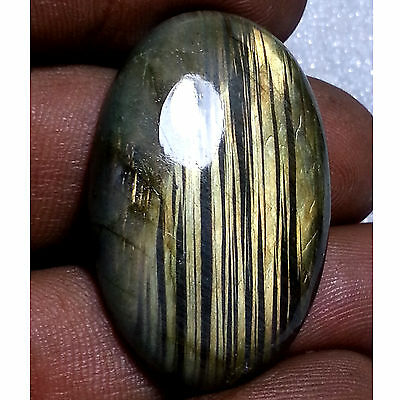 43.20 Ct 100% Natural New Labradorite Beautiful Striped Oval Cab Loose Gemstones