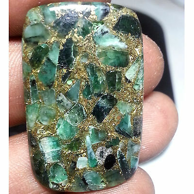 27.75 Cts 100% Natural New Copper Emerald Classy Octagon Cabochon Loose Gemstone