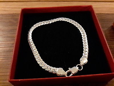 Brand new Silver plated 925 stamped  Bracelet with gift box