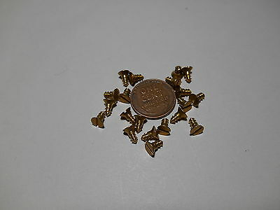 """20 #4 1/4""""  SLOTTED BRASS WOOD SCREWS w/ FLAT HEAD FOR ANTIQUE CLOCK REPAIR"""