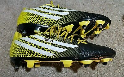 adidas Mens CQ Malice SG Rugby Boots Core Black/White/Bright Yellow