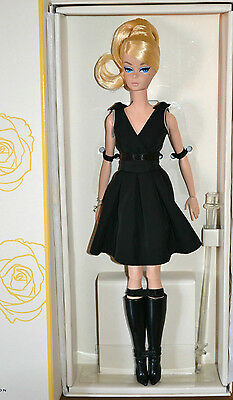 BARBIE SILKSTONE POSEABLE BLACK DRESS NRFB - model muse doll collection Mattel