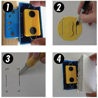 Drywall Electrical Box Locator Mark & Cut Tool Kit Magnetic Electric Box Locator