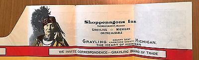 ~*~SHOPPENAGONS INN/ GRAYLING  MICHIGAN  Promotion EXCELLENT CONDITION~*~
