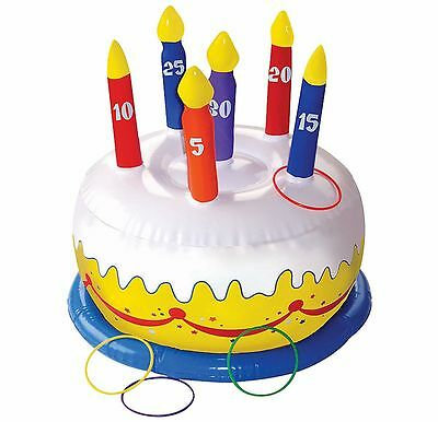 Birthday Cake Ring Toss Party Game ~ kids Activity Inflatable Carnival Fair Fun