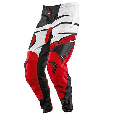 MSR Axxis Adult MX Motocross Pant Black Red Off Road Dirt Bike Enduro Trousers