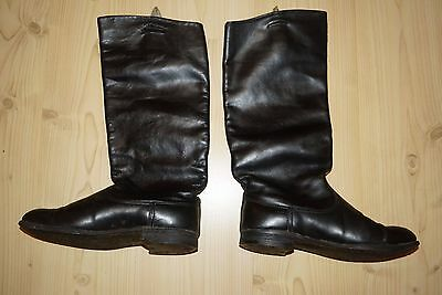 Soviet Russian Officer Riding Boots Chrome Leather 42