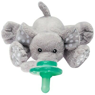 Nookums Paci-Plushies Buddies Elephant - Universal Pacifier Holder