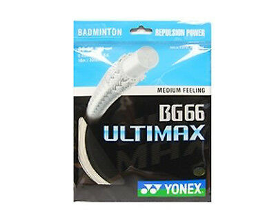 Genuine Yonex BG66 Ultimax Badminton String - 10m - Metallic White - Free P&P