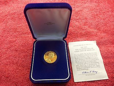 The 1975 One Hundred Dollar Gold Coin Of Bermuda