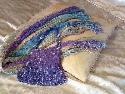 Beaded Evening bag and scarf set
