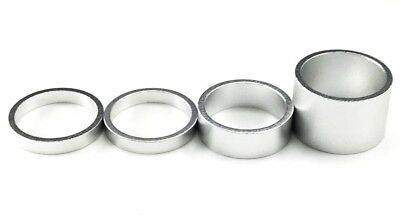 """1"""" Alloy Bike Headset Spacer Kit,Headset Spacers 4PCS( 20mm-10mm-5mm-5mm),Silver"""