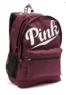 Victorias Secret PINK CAMPUS BACKPACK Maroon / BLACK ORCHID - 2016 - NWT
