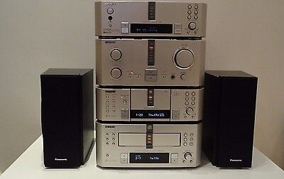 Sony DHC-EX880MD Hifi Component System Amp Tuner 3x CD 3x Mini Disc + Speakers.