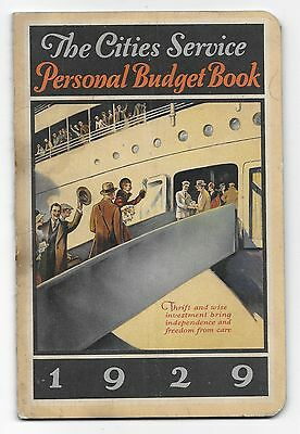 Unmarked 1929 The Cities Service Personal Budget Book