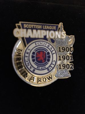 Genuine 22carat Gold Plated Rangers FC Winning Cup Pin Badge collection