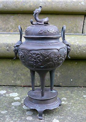A Chinese/Japanese Bronze Incense Burner, 20th Century