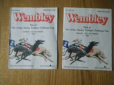 2 x  WEMBLEY TRAFALGAR CUP FINAL RACECARD - 1984 & 1986